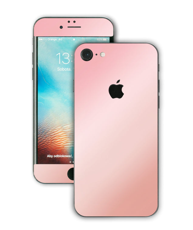 Antique pink ombre iPhone Skin