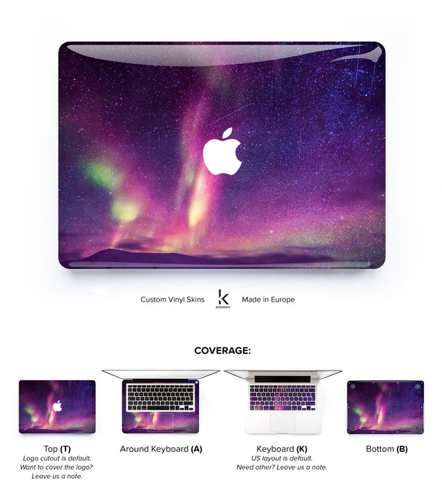 Pink Aurora MacBook Skin at Keyshorts.com