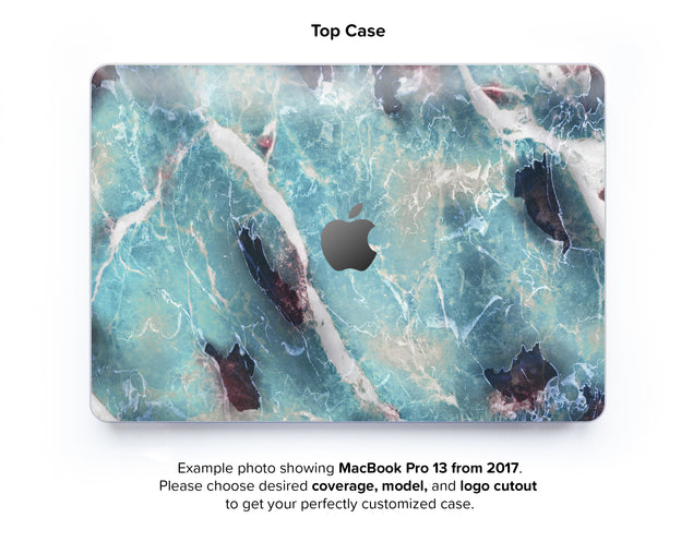 Azure Marble Hard Case for MacBook Pro 13 with TouchBar - top case