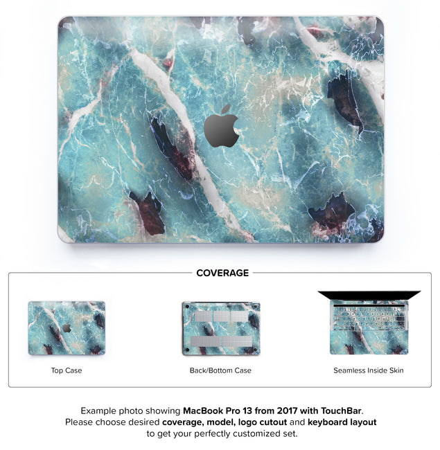 Azure Marble Hard Case for MacBook Pro 13 with TouchBar