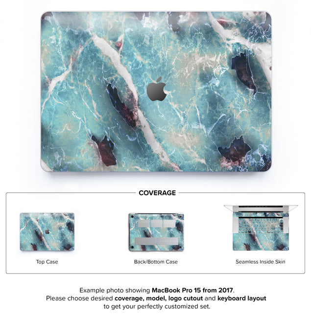 Azure Marble Hard Case for MacBook Pro 15 with TouchBar
