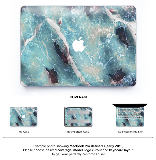 Azure Marble Hard Case for MacBook Pro Retina 13