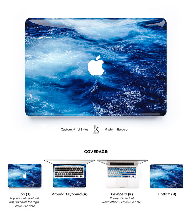 Big Blue MacBook Skin at Keyshorts.com - 1