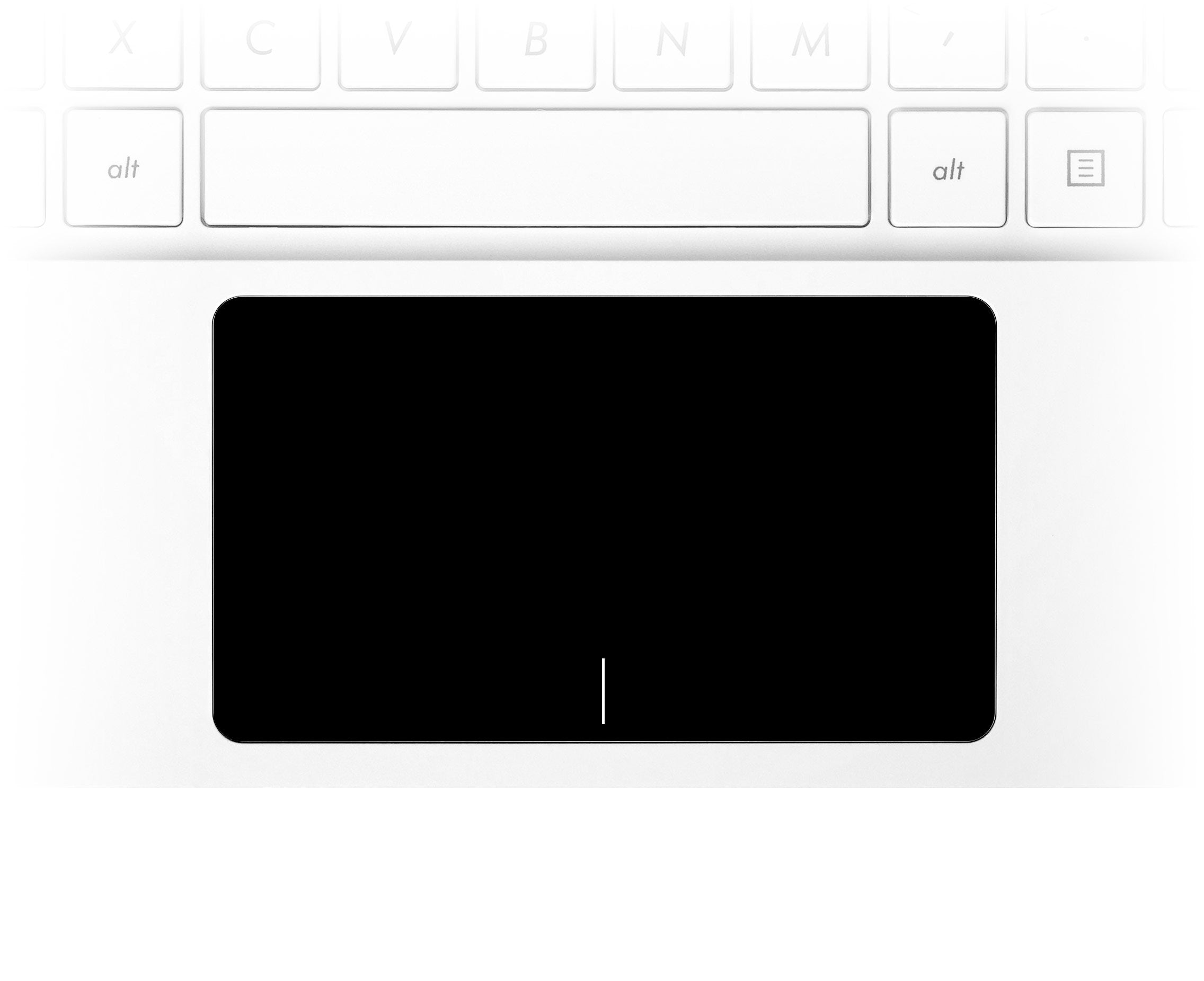 Simple Black Laptop Trackpad Sticker