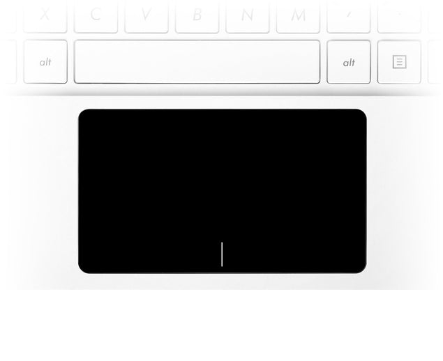 Black laptop trackpad stickers
