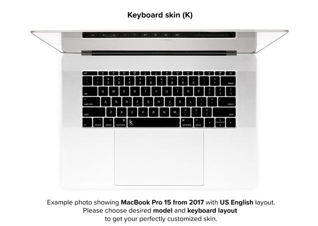Simple Black MacBook Skin - keyboard decals