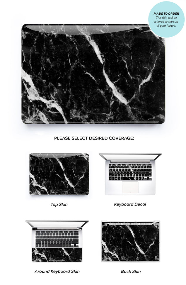 Black Marble 2 Laptop Skin