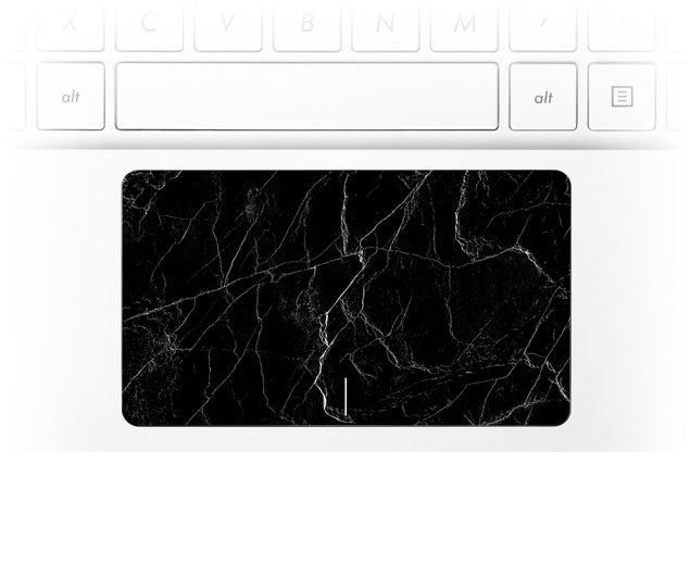 Black marble laptop trackpad sticker