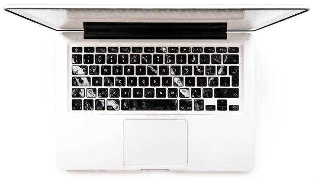 Black Marble 2 MacBook Keyboard Stickers