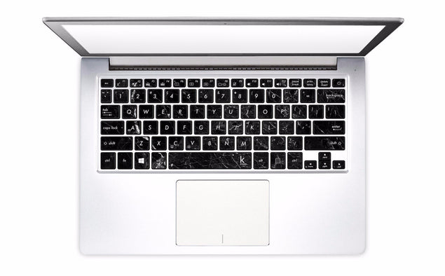 New Black Marble Laptop Keyboard Decal