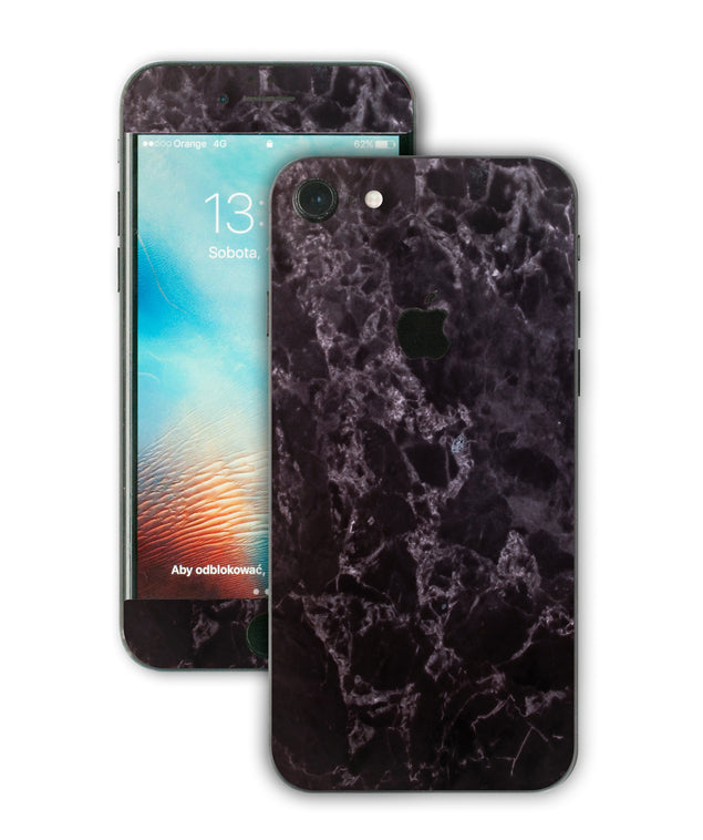 Black Style Marble iPhone Skin