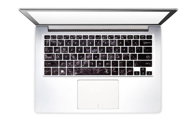 Black Style Marble Laptop Keyboard Stickers