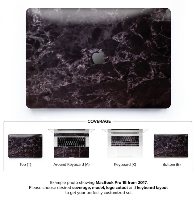 Black Style Marble MacBook Skin