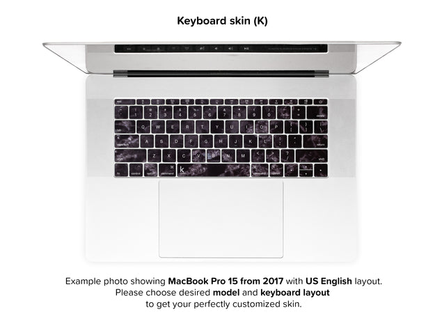 Black Style Marble MacBook Skin - keyboard stickers
