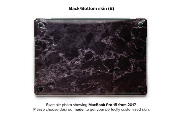 Black Style Marble MacBook Skin - back skin