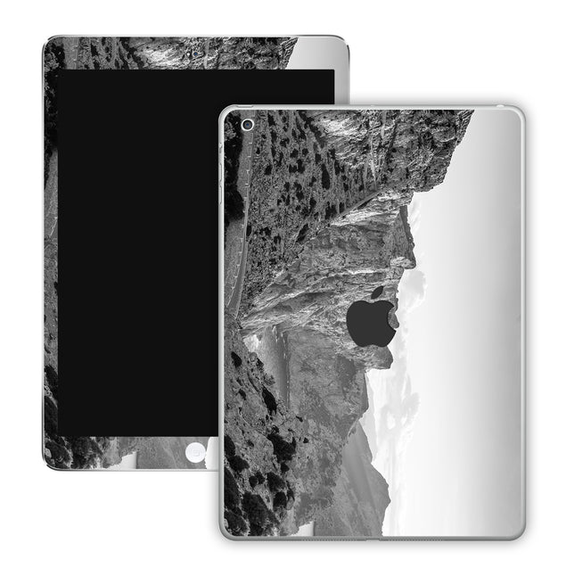 Black white rocks iPad Skin