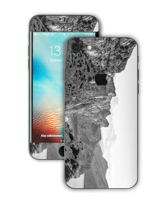 Black white rocks iPhone Skin