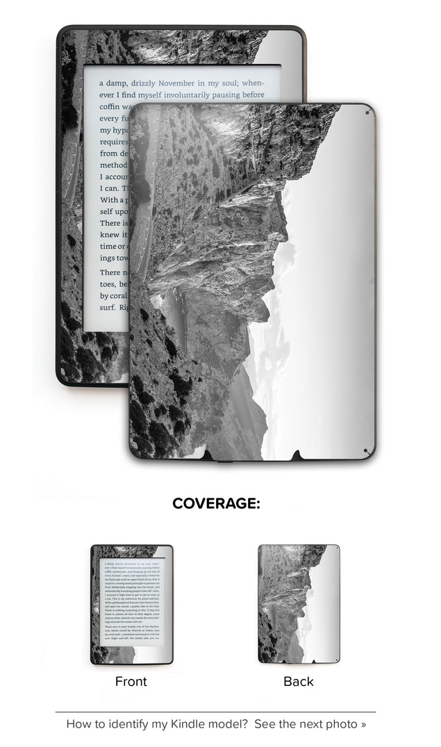 Black white rocks Kindle Skin