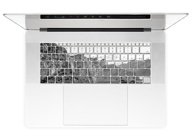 Black white rocks MacBook Keyboard Stickers alternate