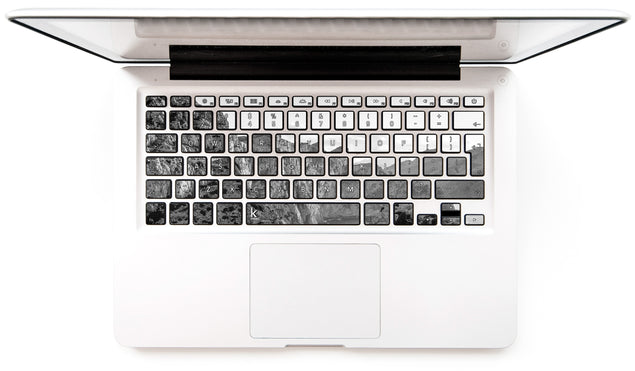 Black white rocks MacBook Keyboard Stickers