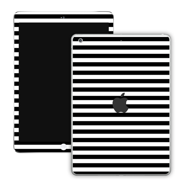 Black White Stripes iPad Skin