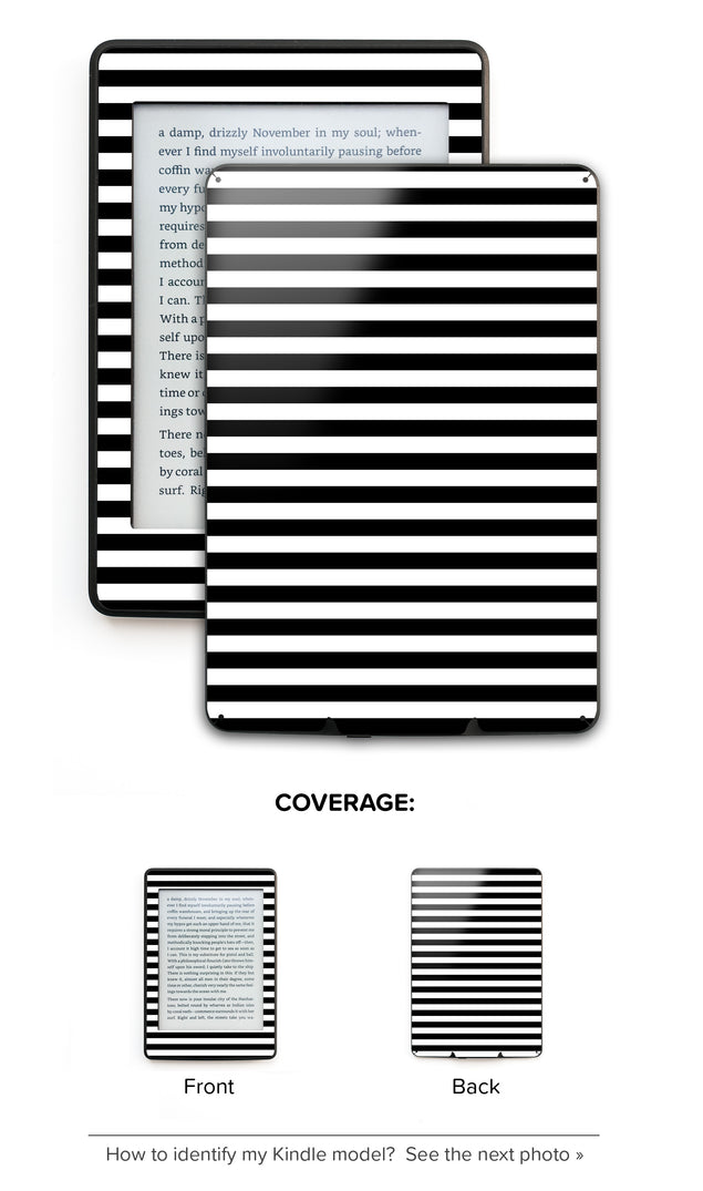 Black White Stripes Kindle Skin