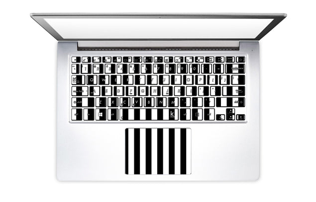 Black White Stripes Laptop Keyboard Stickers