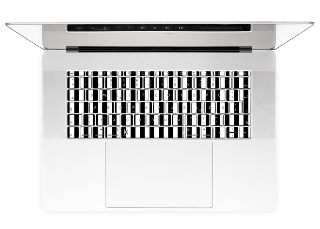 Black White Stripes MacBook Keyboard Stickers