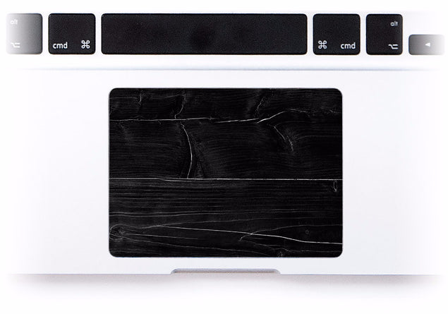 Black Wood MacBook Trackpad Sticker at Keyshorts.com