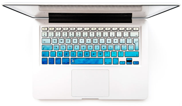 Blue Beige Patina MacBook Keyboard Stickers