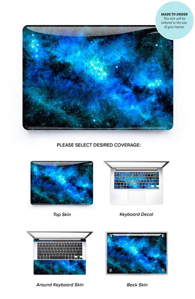 Blue Nebula Laptop Skin
