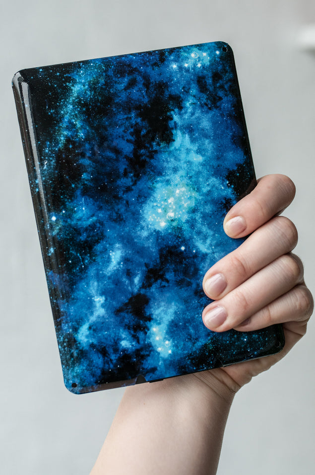 Blue Nebula Kindle Skin