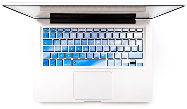 Blue Pink Wave MacBook Keyboard Decal at Keyshorts.com
