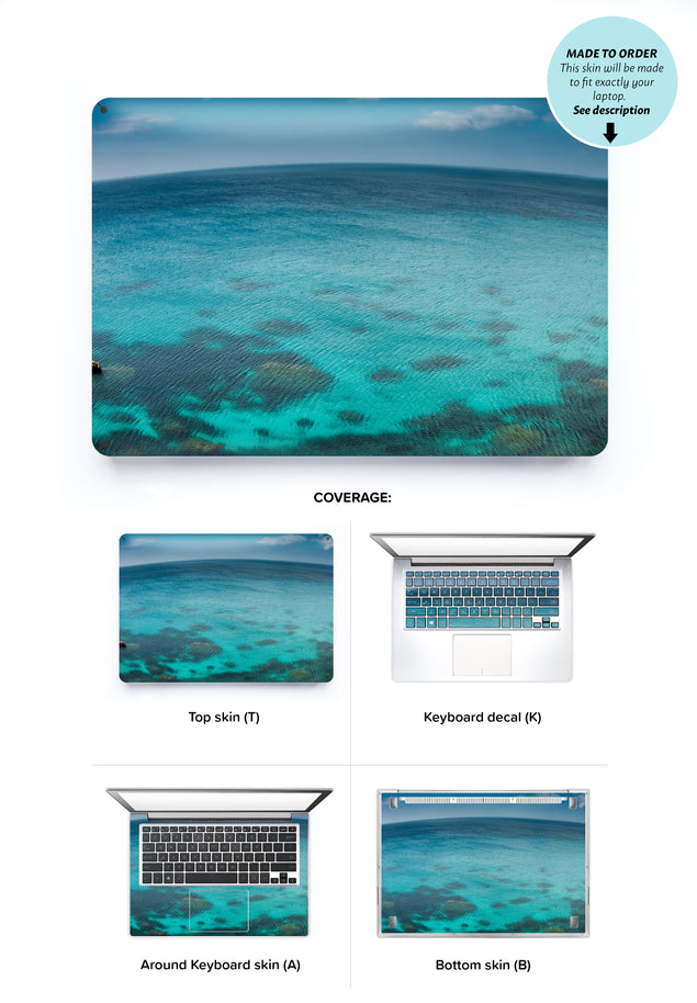 Blue Planet Laptop Skin