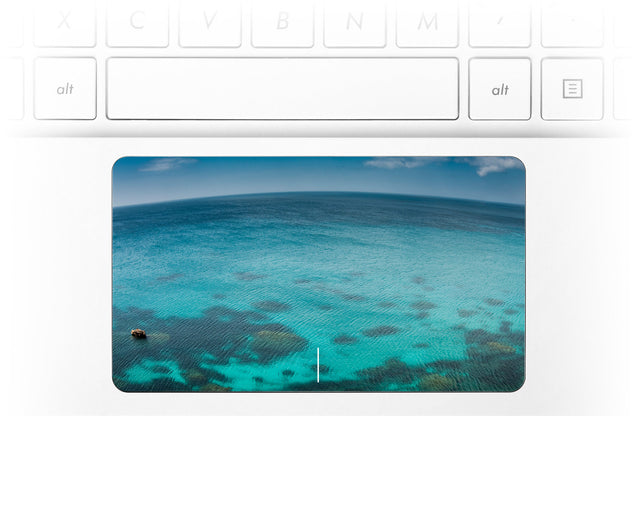 Blue Planet Laptop Trackpad Sticker