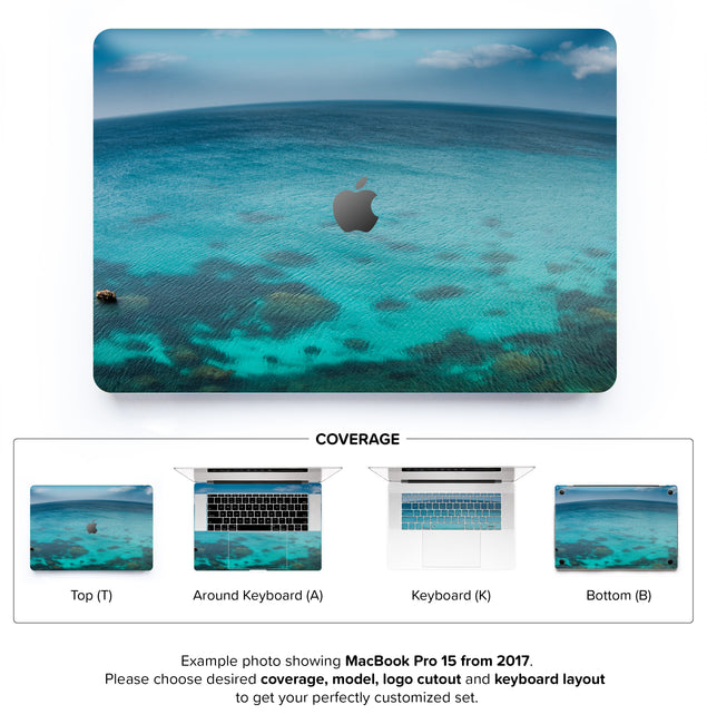 Blue Planet MacBook Skin