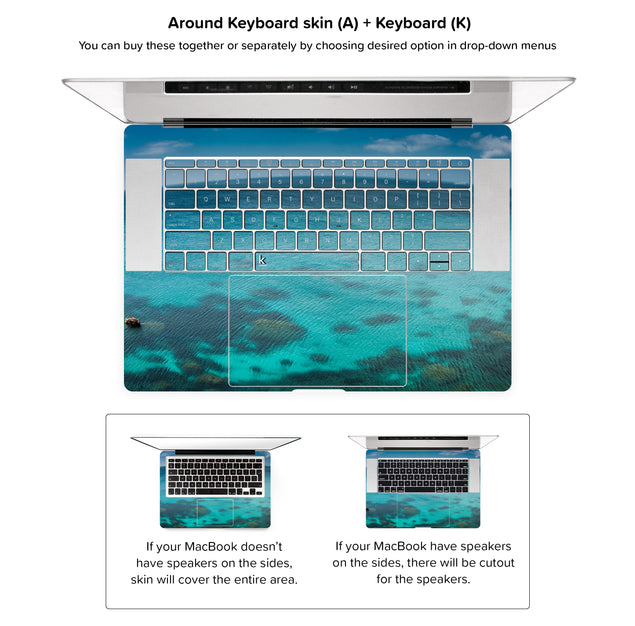 Blue Planet MacBook Skin - around keyboard skin