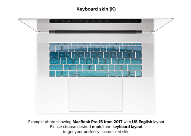 Blue Planet MacBook Skin - keyboard stickers