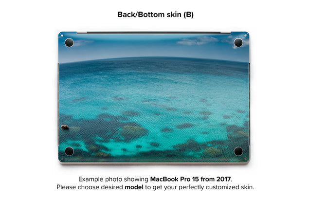 Blue Planet MacBook Skin - back skin