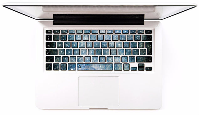 Blue Concrete MacBook Keyboard Decal at Keyshorts.com