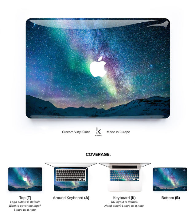 Blue Aurora MacBook Skin at Keyshorts.com