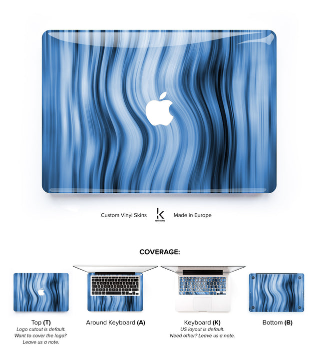 Blue Bands MacBook Skin at Keyshorts.com