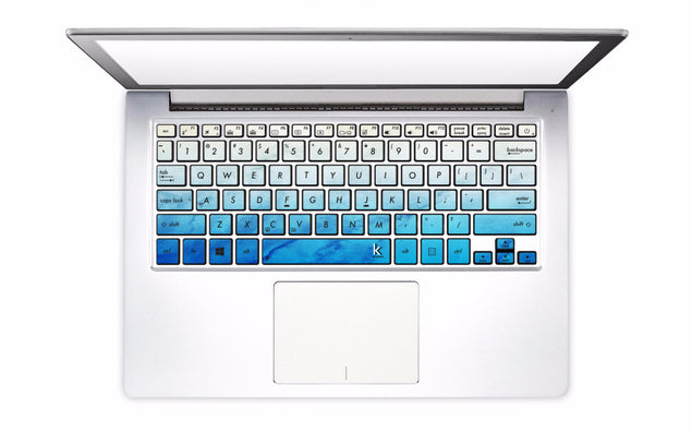 Blue Beige Patina Laptop Keyboard Decal