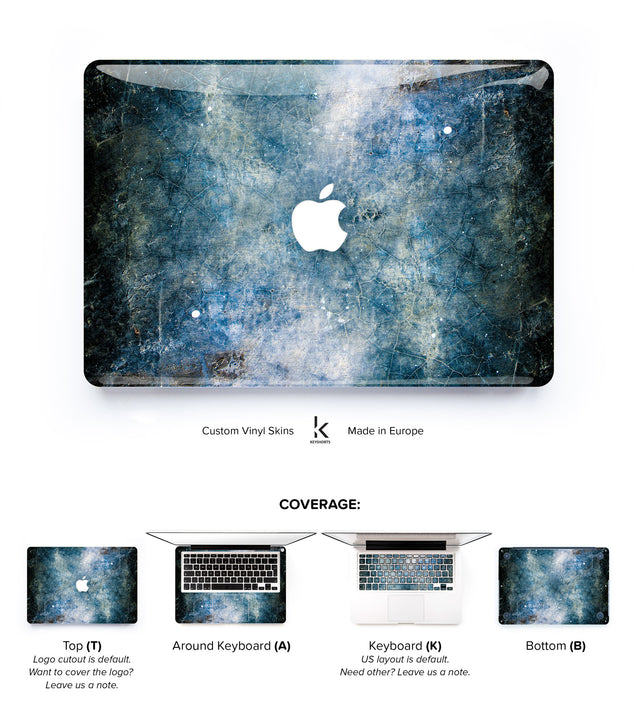 Blue Concrete MacBook Skin at Keyshorts.com