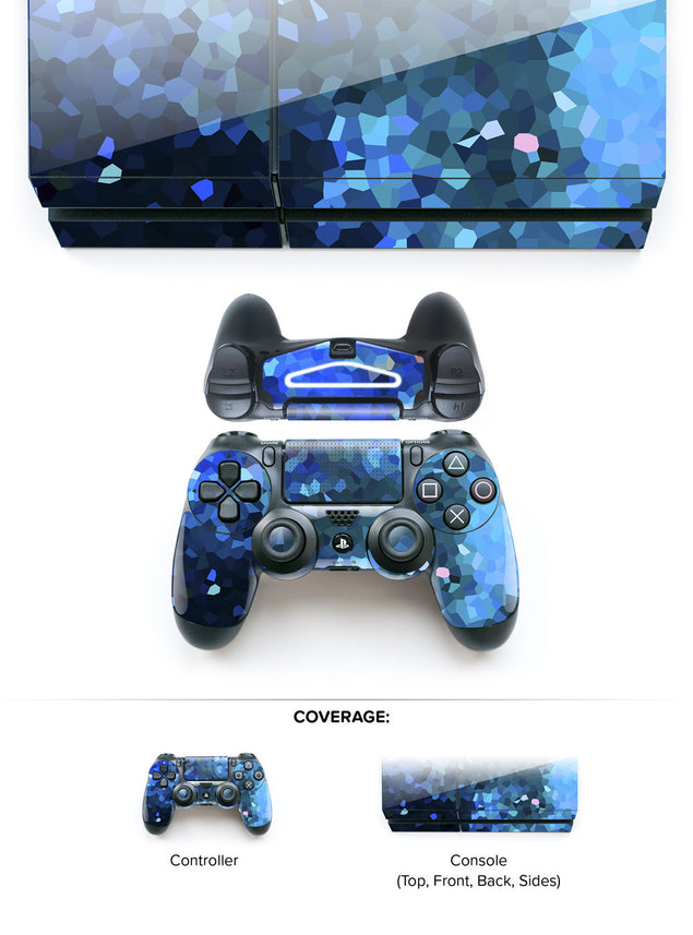 Blue Crystals PS4 Skin at Keyshorts.com