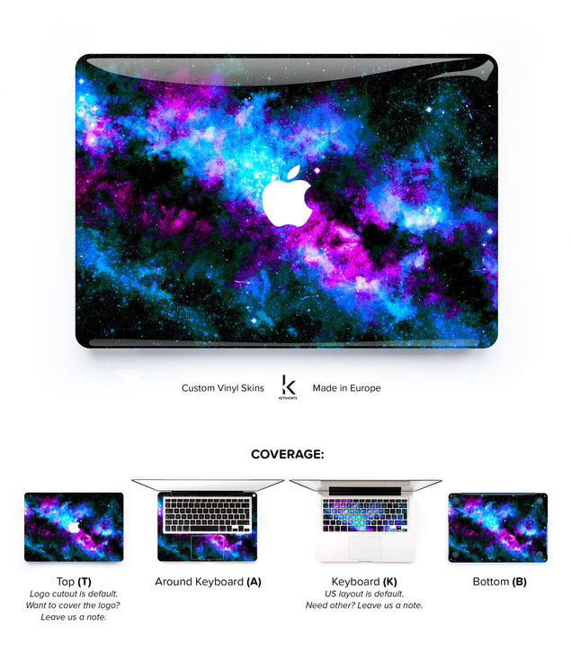 Bluedust MacBook Skin at Keyshorts.com