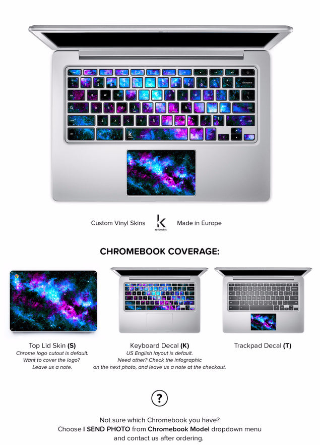 Bluedust Chromebook Skin at Keyshorts.com