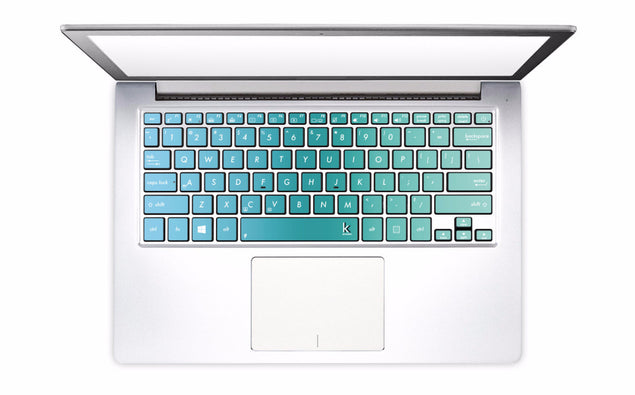 Blue Green Ombre Laptop Keyboard Decal