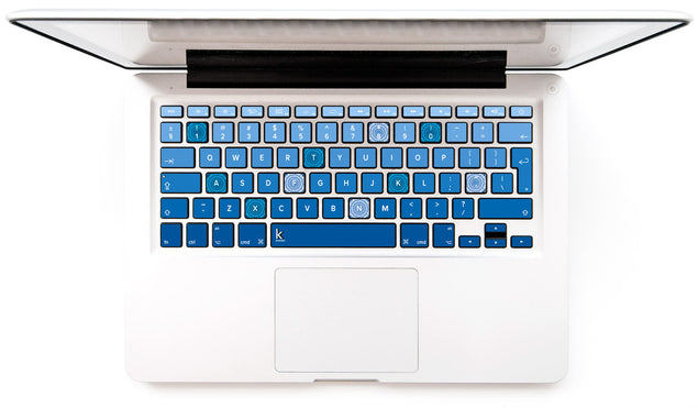 Blue Mandala MacBook Keyboard Decal at Keyshorts.com