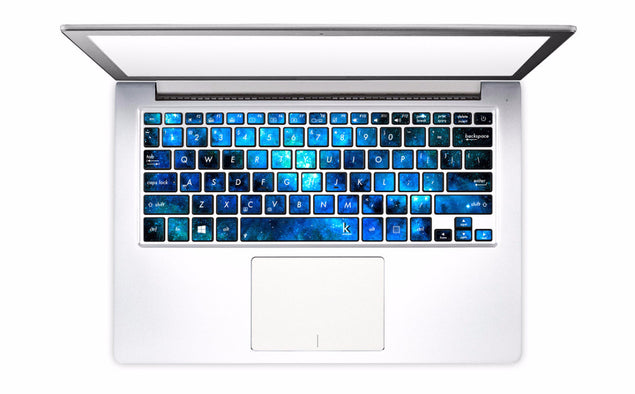 Blue Nebula Laptop Keyboard Decal